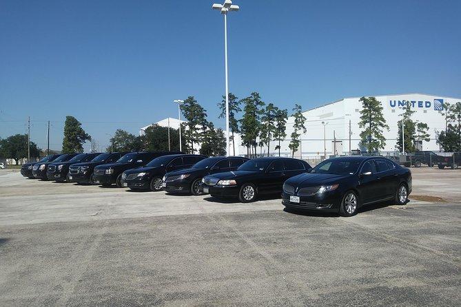 Black Sedan Car Round Trip IAH Airport , Houston - Galveston, TX