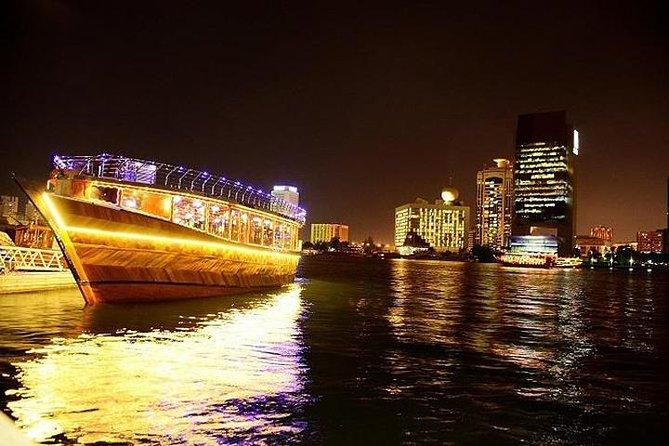 Crucero con cena en barco por el dhow en Dubai Creek