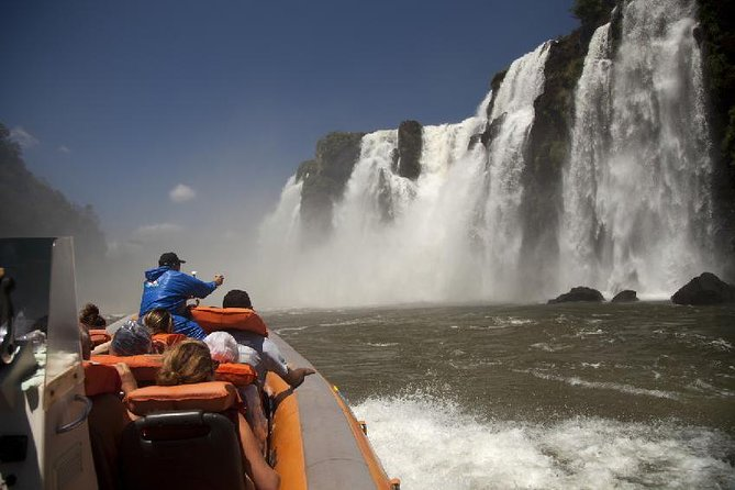 Transfer IN IGU & Iguassu Falls Brazilian side & Macuco Boat Safari