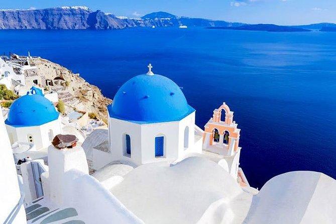 4 Day Greek Islands Tour: Visit Paros, Mykonos, Santorini, Delos Cruise, Volcano