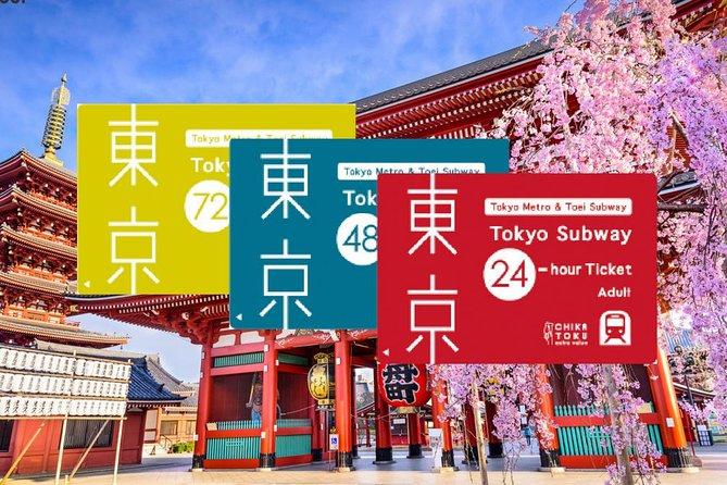 Tokyo Subway Ticket (24, 48, 72 Hours)
