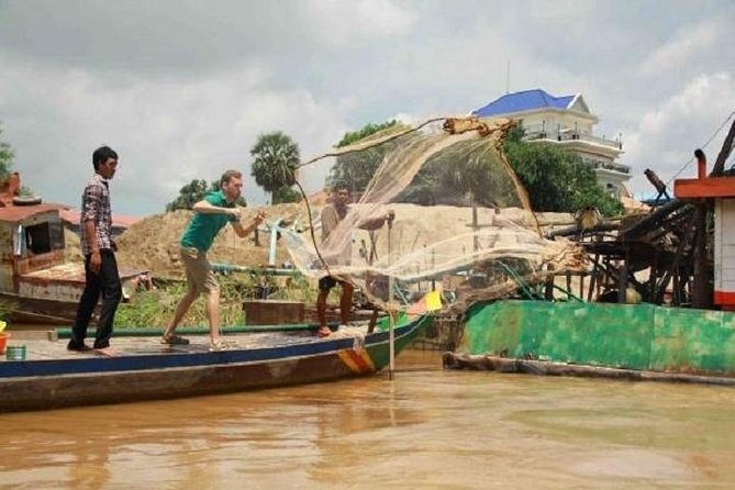 Fishing on the Mekong with a local fisherman