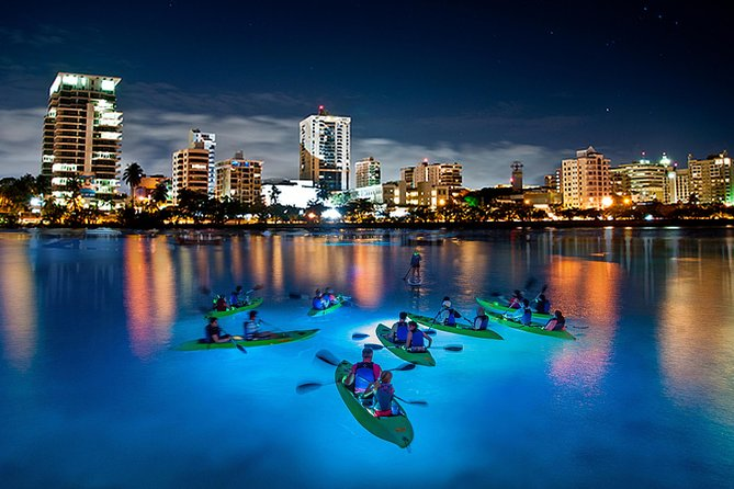LED Night Kayak - Condado Lagoon - Guided Excursion