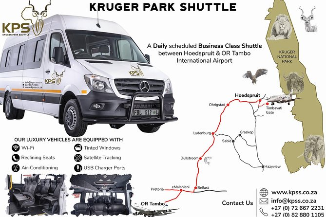 KPS is a daily business class shuttle from Johannesburg to Hoedspruit