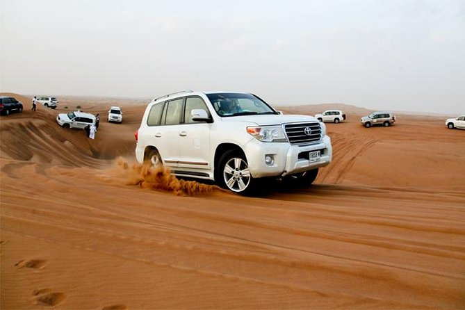 Sunset Desert Safari with BBQ, Camel Ride & Sandboarding