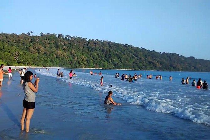 Toursit at Radha Nagar Beach