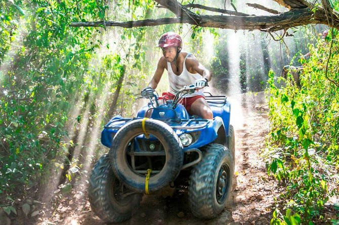 Coba Adventure: ATV, Rappel, Ziplines, Cenote, Archeological Zone Tour
