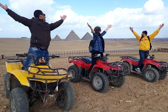 Quad in The Pyramids desert