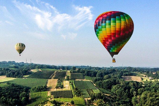 Milan weekend morning hot air balloon flight