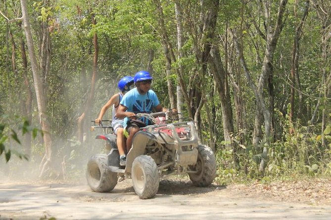 Riviera Maya Jungle Half-Day Tour: ATV, Ziplines, Cenote Swim, Rappel