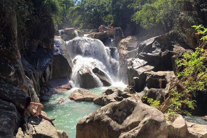 Trekking and Cliff-Jumping at Ba Ho Waterfall with Massage by the Blind