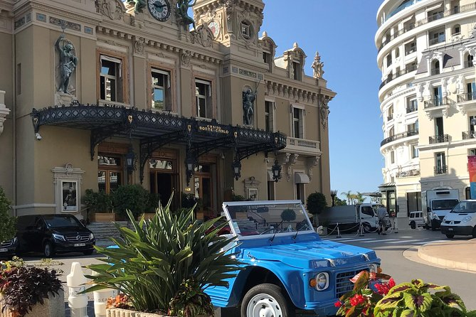 Private transfer in Citroën Méhari from Nice Airport to Monte Carlo
