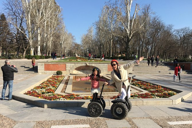 Madrid Private Segway Tour Retiro for 1 hr, 1 and a half hrs or 2 hrs