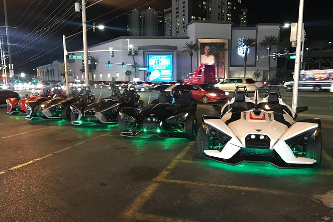 Scenic Las Vegas Strip Night Drive in a Polaris Slingshot