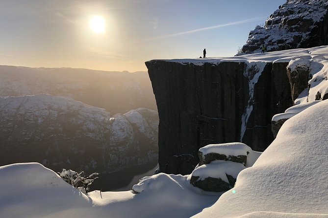 Guided winter hike to Pulpit Rock Preikestolen