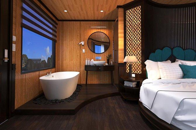 Luxury Serenity Cruise 2 days Tour: Kayaking & swimming in Halong & Lan ha bay