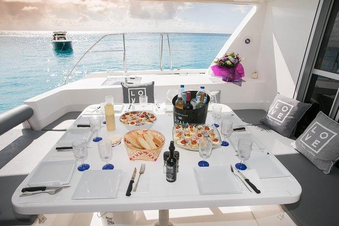 St Maarten Nude Naturist Catamaran Boat Luxury Charter SXM Tour