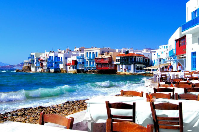 Island Tour & Mykonos Town walking tour 10 to 15 customers