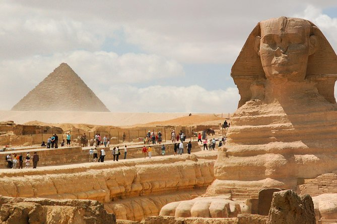 Transfer you from airport to your hotel, then Pyramids,Memphis & Sakkara,Lunch