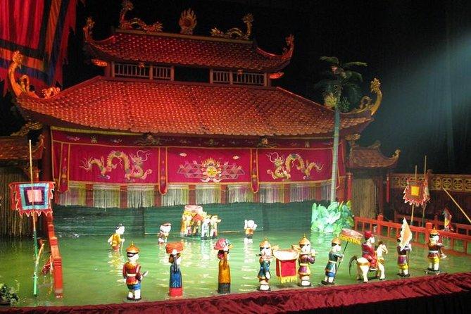 Hanoi vattendukshow och middag