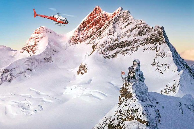 Jungfraujoch Top of Europe by Helicopter and hotel pick up one way