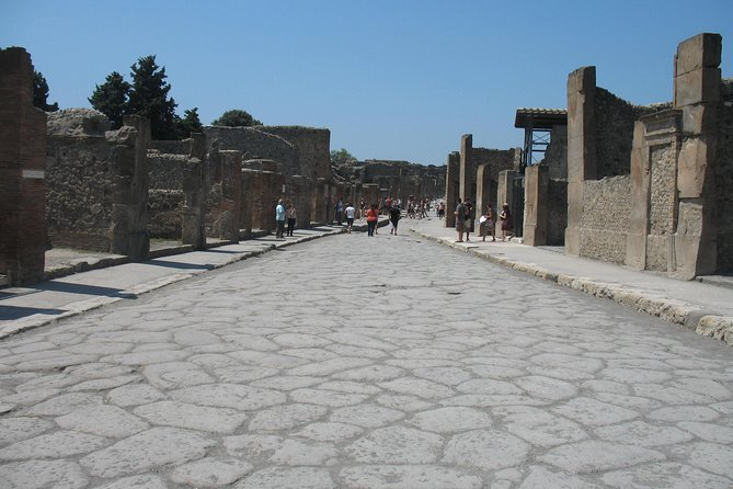 Transfer from Naples to Salerno with a 2hr stop at Pompeii (1-8 PAX)