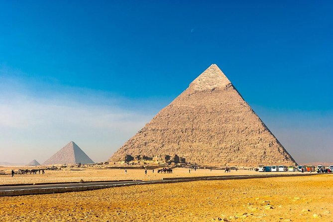 Pyramids of Giza & Sphinx & valley temple Tour with Camel Ride & Egyptian lunch