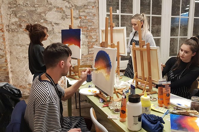 Lets paint while enjoying a glass of wine