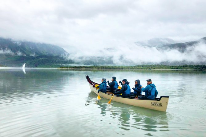 Off to adventure on the Mendenhall Lake Canoe Tour.