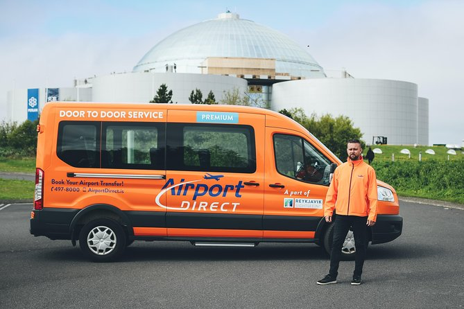 Return Door to Door Premium Airport Transfer between Keflavik International Airport and your accommodation in Reykjavik City