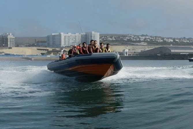 Crucero en barco rígido inflable de alta velocidad en Barcelona