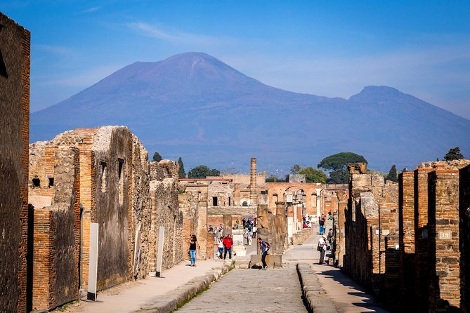 Pompeii Ruins & Mt Vesuvius Volcano with Lunch from Rome
