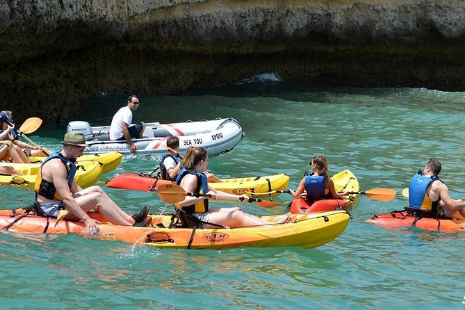 Kayak Guided Session in Albufeira Coastline