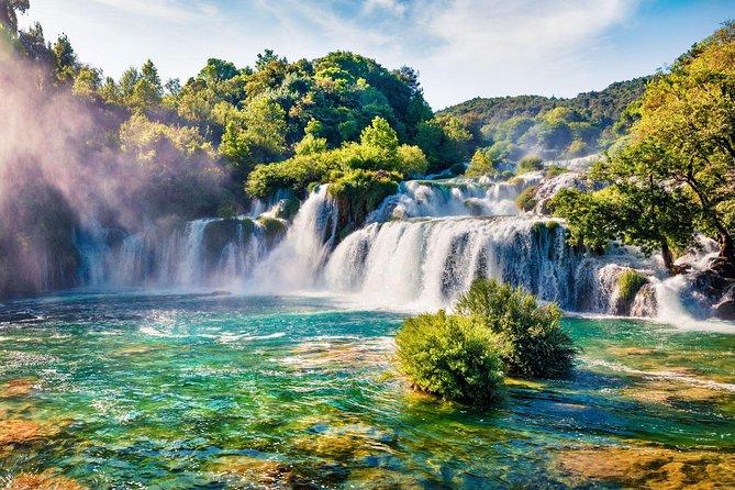 Krka Waterfalls & Sibenik Tour with entrance ticket from Split