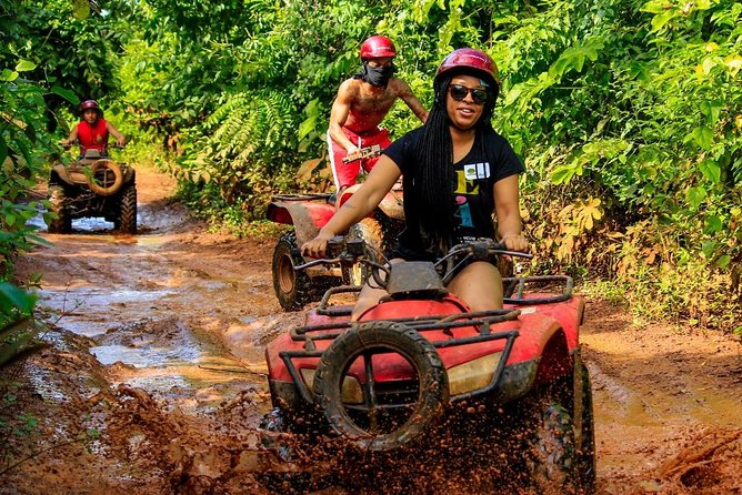 Live the experience to drive an Atv, do ziplines and swim in a real Cenote Maya photo 6