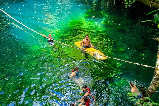 Drive an Atv in the jungle, do ziplines and swim in a Cenote from Cancun photo 6