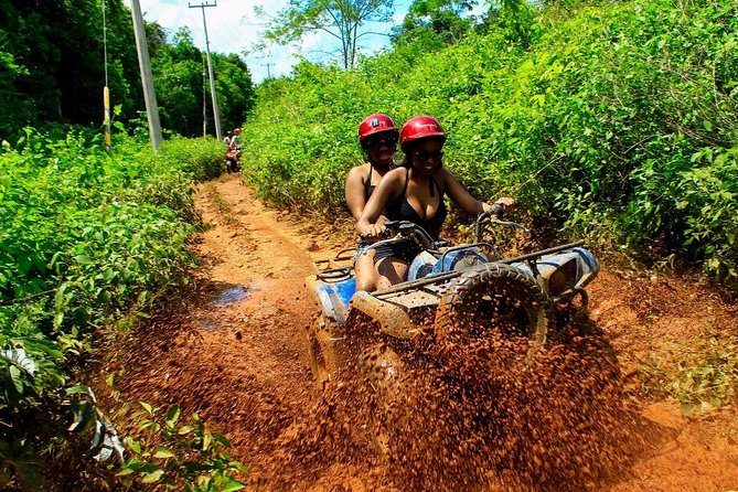 Drive an Atv in the jungle, do ziplines and swim in a Cenote from Cancun photo 4