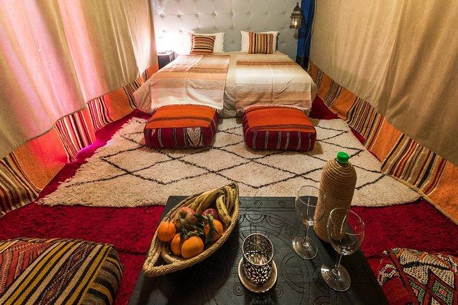VIP AC Luxury Camp & Camel Ride in Desert Merzouga Erg Chebbi Merzouga Dunes