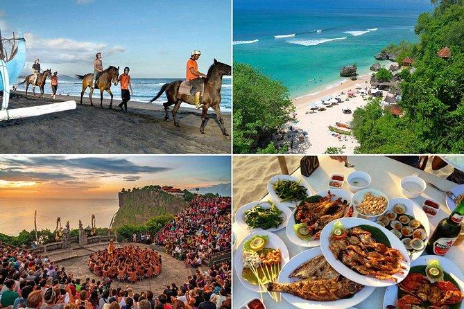 Bali Horse Riding and Uluwatu Sunset Tour with Dinner in Jimbaran Beach