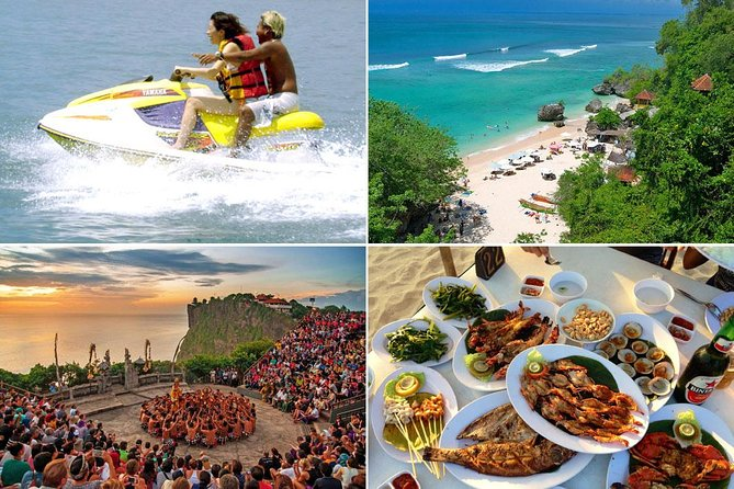 Bali Water Sports and Uluwatu Sunset Tour with Jimbaran Seafood Dinner