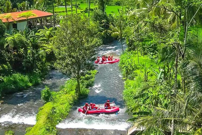 Ubud White Water Rafting and Tanah Sunset Lot Tour