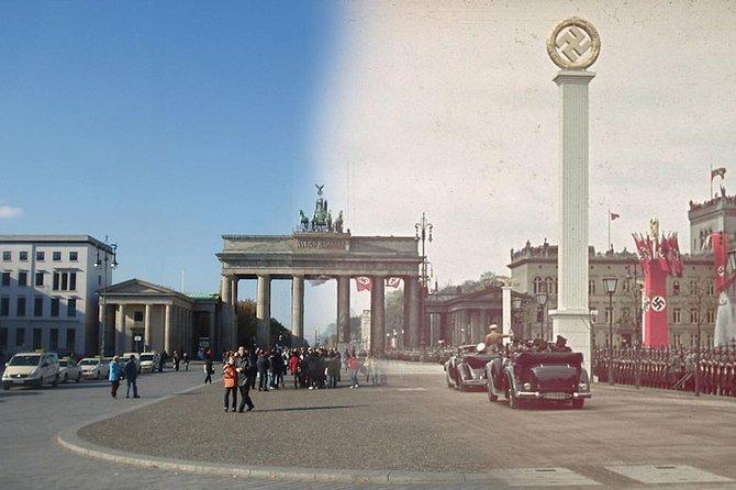 Brandenburg Gate now and then.