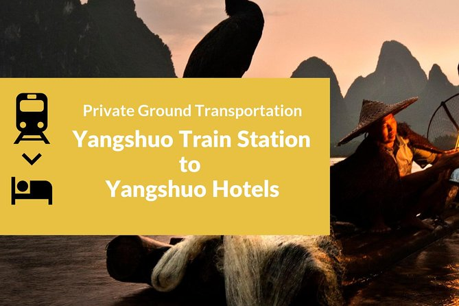 Private Car Transportation from Yangshuo Train Station to Hotel in Yangshuo