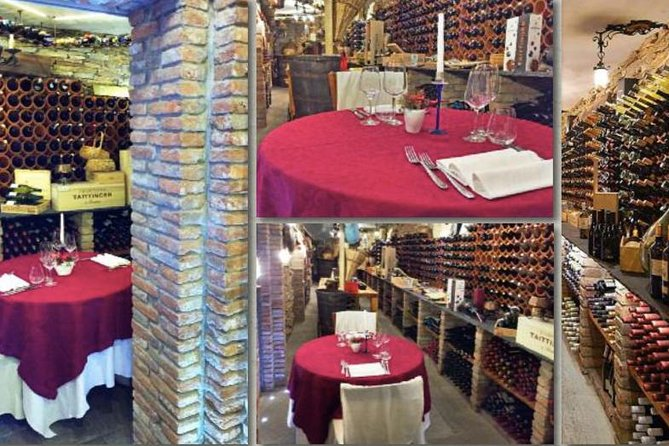Private Dinner in cellar by Chef Luigi Gandola Gourmet Menu and Expensive Wine