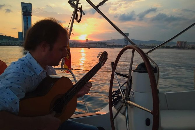 Sunset Sailing Small Group Experience with Live Spanish Guitar from Port Vell