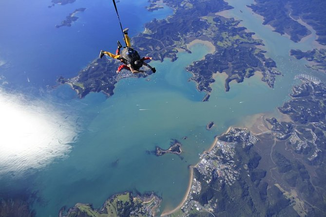 Bay of Islands Skydive from 12,000 ft. with 40-Second Free Fall