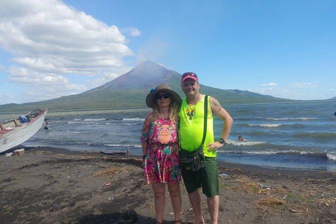 Momotombo volcano view from the shore of lake Xolotlan- Leon area-Nicaragua