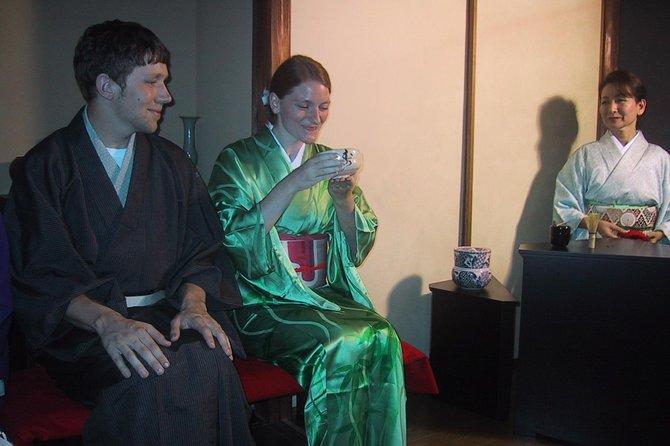 Tea ceremony party at traditional townhouse in Kyoto, Nishizin Tondaya