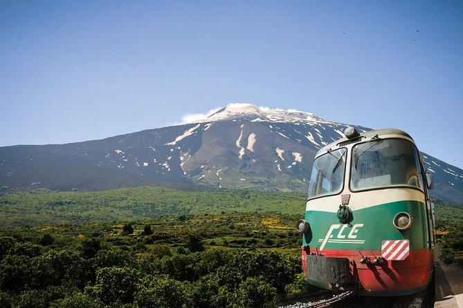 Mount Etna and Alcantara Gorges Day Trip with Circumetnea Railway Ride