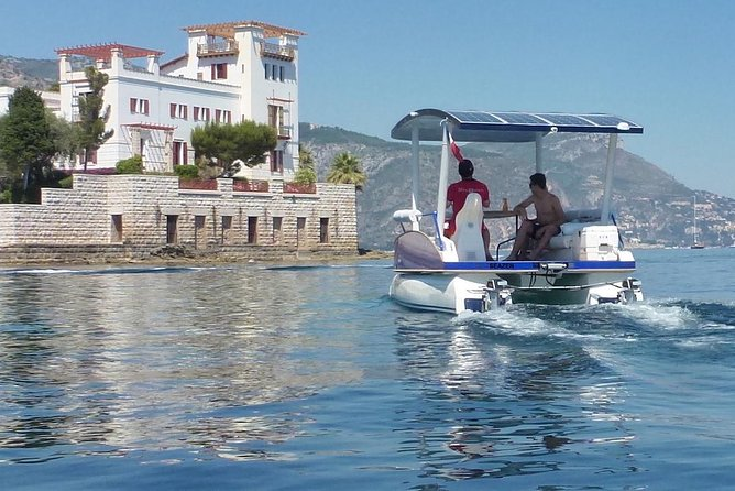 Private Cruise Near Nice and Monaco with Solar Powered Boat